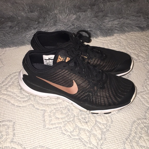 Nike Shoes Nike Tennis Shoes Black And Rose Gold Poshmark